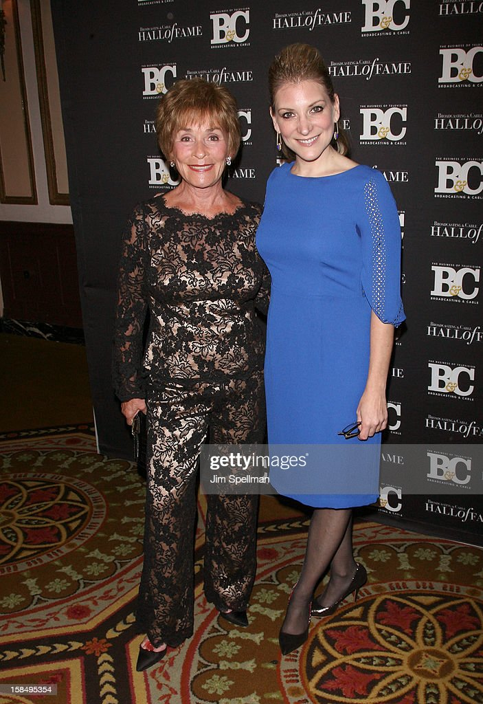 Judge Judith Sheindlin and Editor-in-Chief, Broadcasting & Cable Melissa Grego attend at 2012 Broadcasting & Cable Hall Of Fame Awards The Waldorf Astoria on December 17, 2012 in New York City.