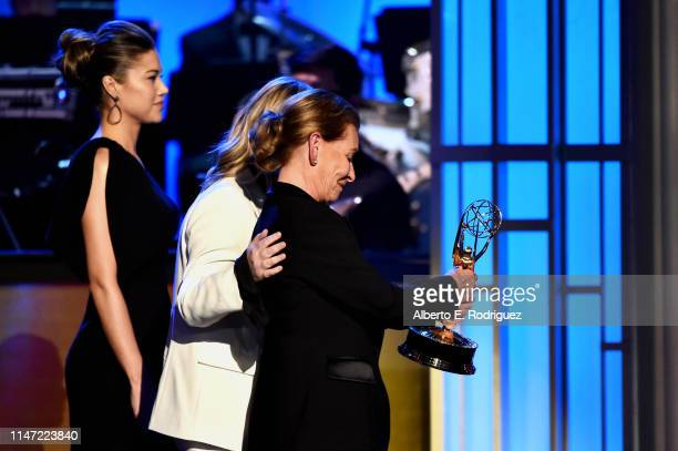 Judge Judy accepts the Daytime Emmy Award for Outstanding Legal/Courtroom Program onstage at the 46th annual Daytime Emmy Awards at Pasadena Civic...