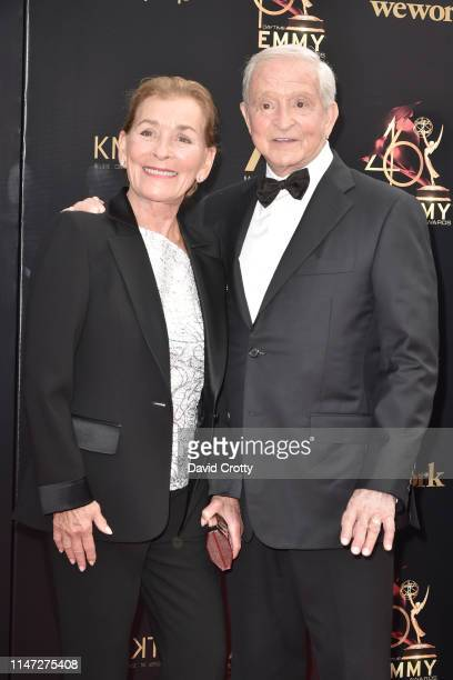 Judge Judy and Jerry Sheindlin attend the 46th annual Daytime Emmy Awards at Pasadena Civic Center on May 05 2019 in Pasadena California