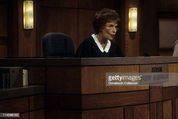 Judge Judy Judith Sheindlin on Set on February 14 1997 in Los Angeles California