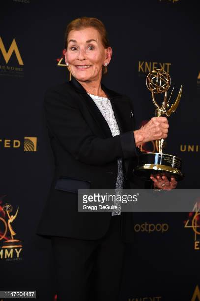 Judge Judy poses with the Lifetime Achievement Award during the 46th annual Daytime Emmy Awards at Pasadena Civic Center on May 05 2019 in Pasadena...