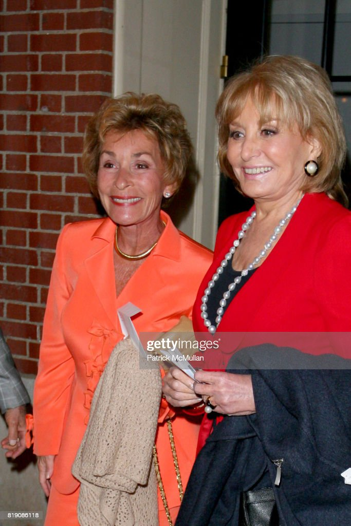 Judge Judy Sheindlin and Barbara Walters attend Opening Night of 'ALL ABOUT ME' at Henry Miller's Theatre on March 18, 2010 in New York City.
