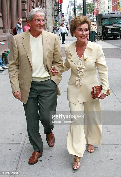 Judge Judy Sheindlin and husband during Judge Judy Sheindlin Sighting in New York City June 9 2007 in New York City New York United States