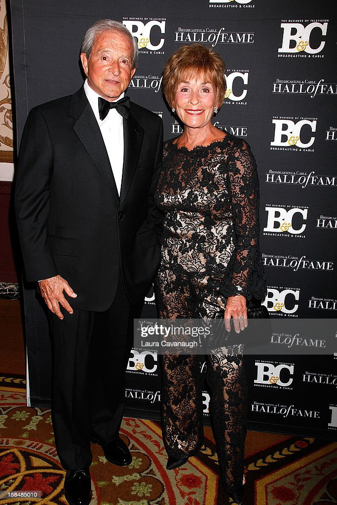Judge Judy Sheindlin and Judge Jerry Sheindlin attend the 2012 Broadcasting & Cable Hall of Fame Awards at The Waldorf=Astoria on December 17, 2012 in New York City.