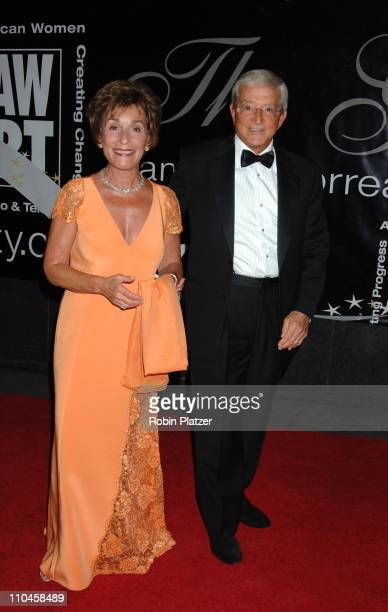 Judge Judy Sheindlin and Judge Jerry Sheindlin during 31st Annual American Women in Radio Television Gracie Allen Awards Red Carpet at Marriot...