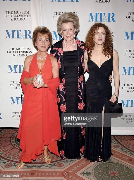 Judge Judy Sheindlin Dina Merrill and Bernadette Peters