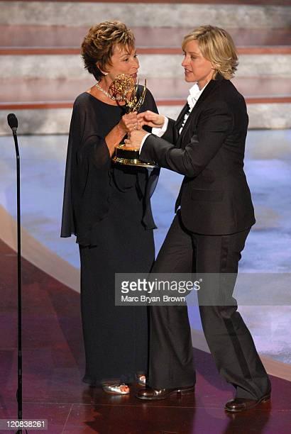 Judge Judy Sheindlin presenter and Ellen DeGeneres winner Outstanding Talk Show Host