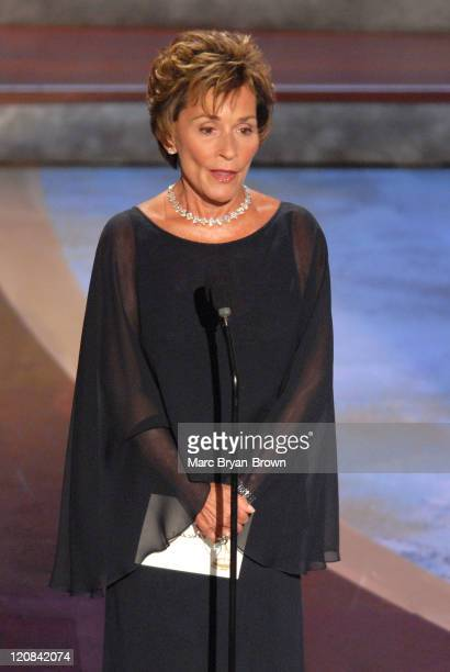 Judge Judy Sheindlin presenter during 33rd Annual Daytime Emmy Awards Show at Kodak Theatre in Hollywood CA United States