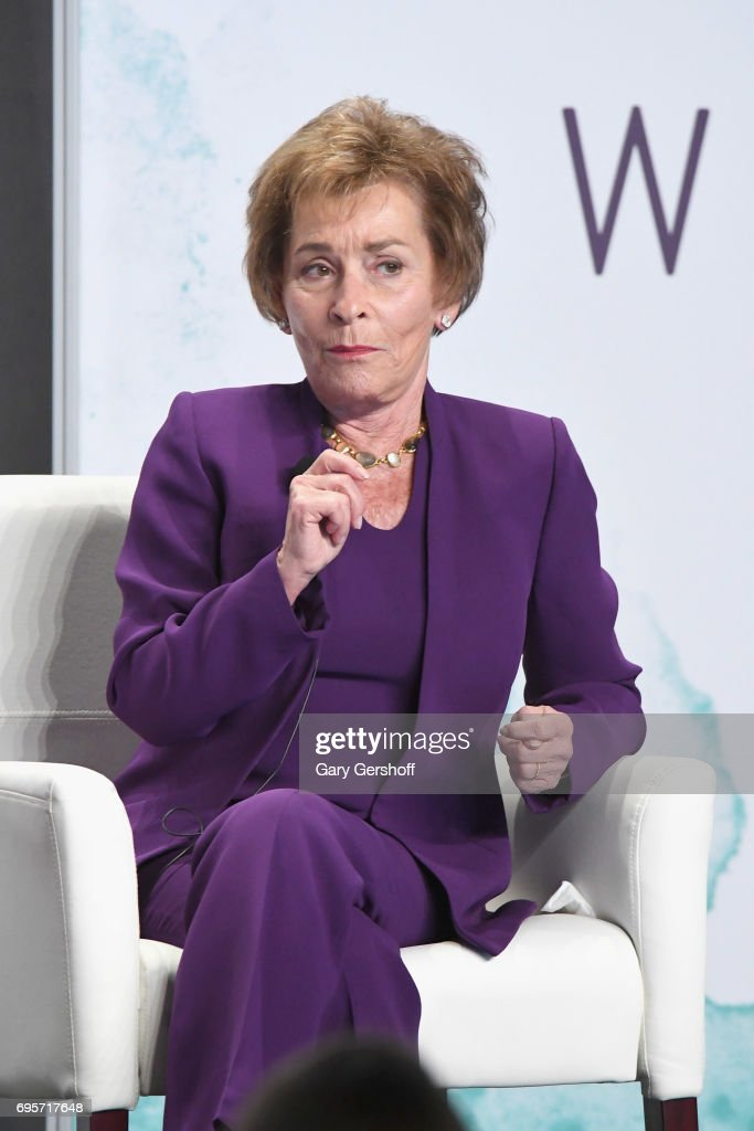 Judge Judy Sheindlin speaks on stage during the 2017 Forbes Women's Summit at Spring Studios on June 13, 2017 in New York City.