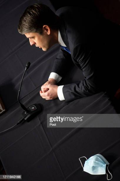 Judge Justin Walker testifies during a Senate Judiciary Committee hearing on his nomination to be United States Circuit Judge for the District of...