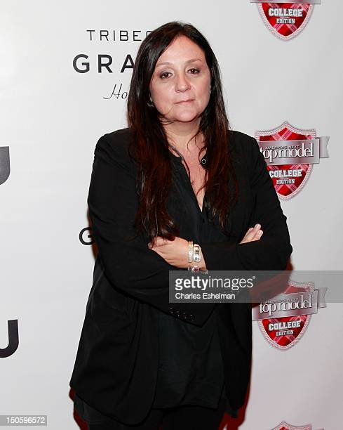 Judge Kelly Cutrone attends the America's Next Top Model College Edition Cycle 19 Premiere at the Tribeca Grand Hotel on August 22 2012 in New York...
