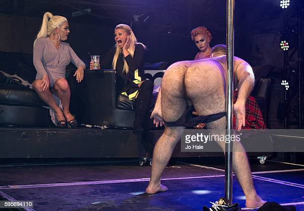 Judge Kerry Katona and Kassan attend GAY GAY Porn Idol at GAY on August 25 2016 in London England