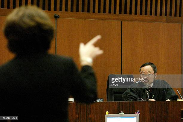 Judge Lance Ito oversees a driveby shooting murder case May 20 2004 nearly tens years after he presided over the highprofile case of former football...