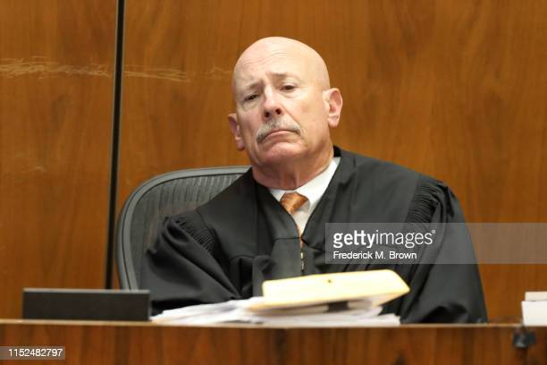 """Judge Larry Paul Fidler presides during the trial for alleged serial killer Michael Gargiulo known as the """"Hollywood Ripper"""" where Ashton Kutcher is..."""