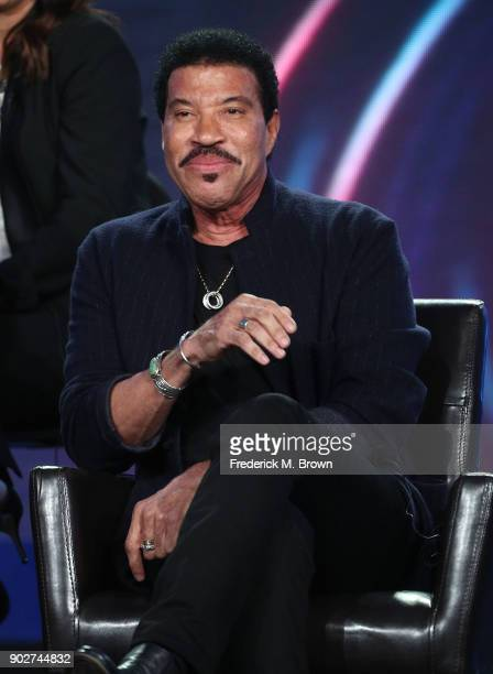 Judge Lionel Richie of the television show American Idol speaks onstage during the ABC Television/Disney portion of the 2018 Winter Television...