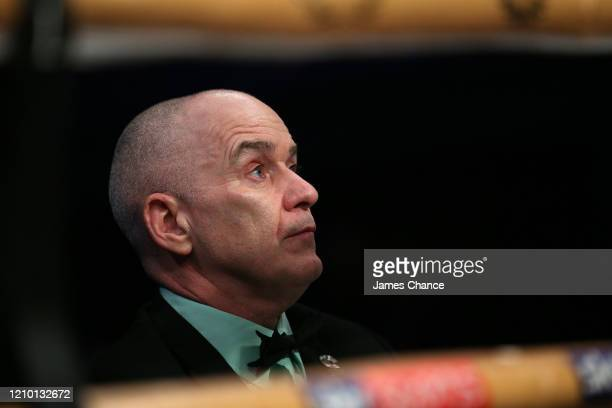 Judge looks on during the MTK Global Golden Contract Super-Lightweight Semi-Final fight between Ohara Davies and Jeff Ofori at York Hall on February...