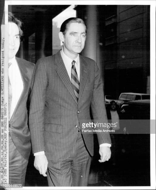 Judge M Williams who resigned today September 15 1986