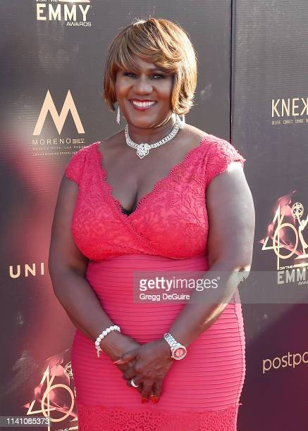 Judge Mablean Ephriam arrives at the 46th Annual Daytime Creative Arts Emmy Awards at Pasadena Civic Center on May 3 2019 in Pasadena California