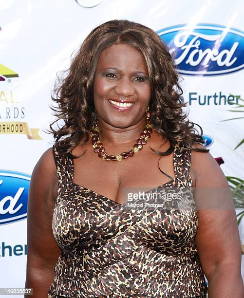 Judge Mablean Ephriam walks the blue carpet at the 10th Annual Ford Hoodie Awards at MGM Garden Arena on August 4, 2012 in Las Vegas, Nevada.