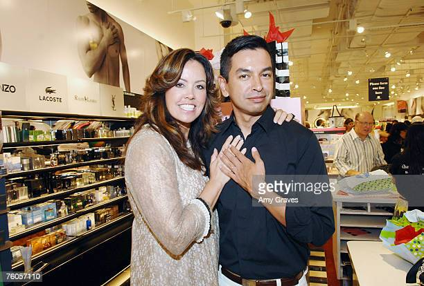 """Judge Mary Murphy of """"So You Think You Can Dance"""" and Ben Bennett of We Love Beauty.com attend the launch of That Gal Cosmetics at Sephora on August..."""