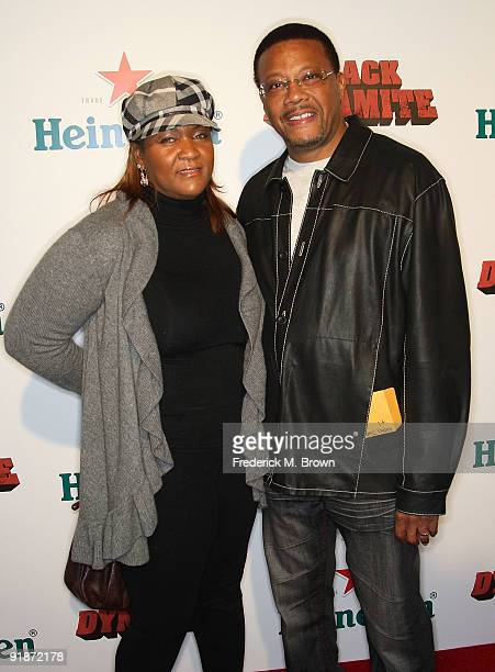 Judge Mathis and his wife Linnda Reese attend the Black Dynamite film premiere at the Arclight Hollywood on October 13 2009 in Hollywood California