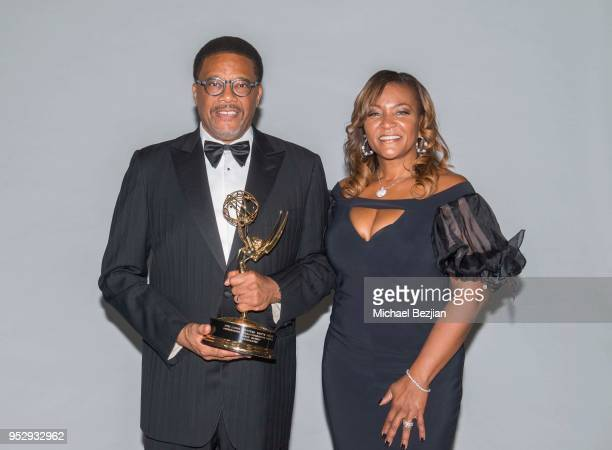 Judge Mathis and Linda Mathis pose for portrait at 45th Daytime Emmy Awards Portraits by The Artists Project Sponsored by the Visual Snow Initiative...