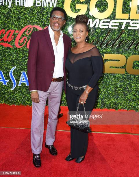 Judge Mathis and Linda Reese arrives at the 7th Annual Gold Meets Golden at Virginia Robinson Gardens and Estate on January 04 2020 in Los Angeles...