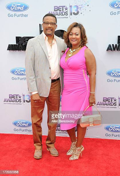 Judge Mathis and Linda Reese attend 2013 BET Awards Arrivals at Nokia Plaza LA LIVE on June 30 2013 in Los Angeles California