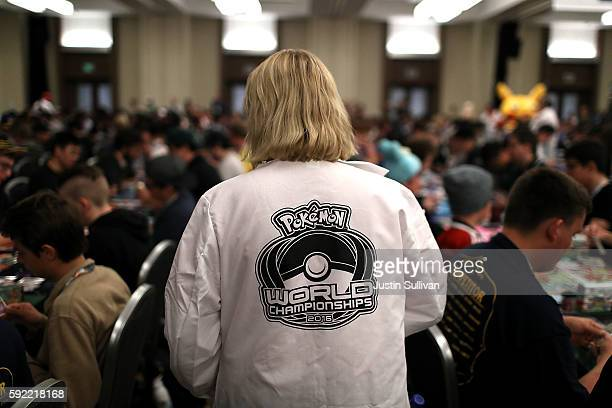 A judge monitors contestants as they compete during the 2016 Pokemon World Championships on August 19 2016 in San Francisco California Over 1600...