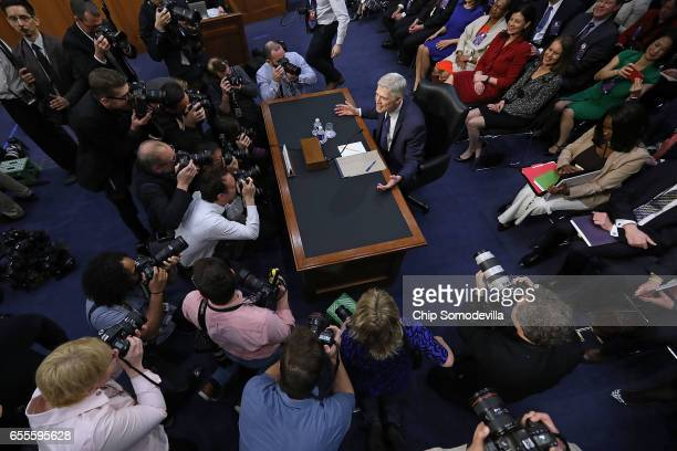 Judge Neil Gorsuch asks photographers Is this what you do all day I'm sorry after he arrived for the first day of his Supreme Court confirmation...
