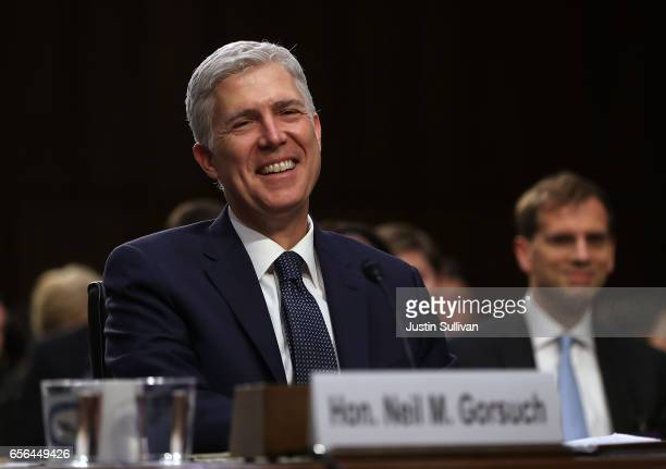 Judge Neil Gorsuch testifies during the third day of his Supreme Court confirmation hearing before the Senate Judiciary Committee in the Hart Senate...