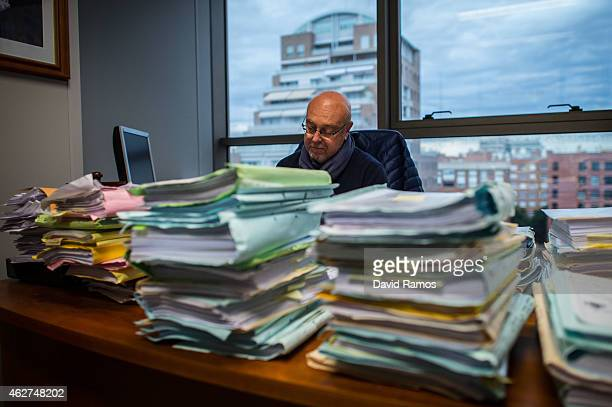 Judge of the Commercial Court number 3 Jose Maria Cutillas works in his office on February 4 2015 in Valencia Spain The Commercial Court number 3 of...
