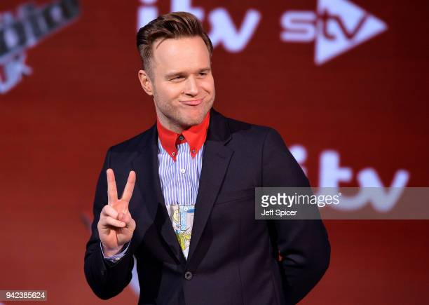 Judge Olly Murs attends the prefinal event for 'The Voice' at Elstree Studios on April 5 2018 in Borehamwood England
