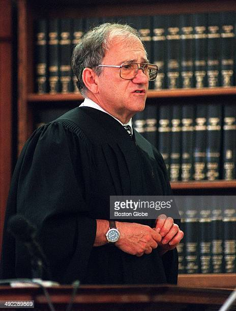 Judge Paul A Chernoff during the trial of Dr Dirk Greineder at Norfolk Superior Court in Dedham Mass on June 19 2001 Greineder an allergist at...