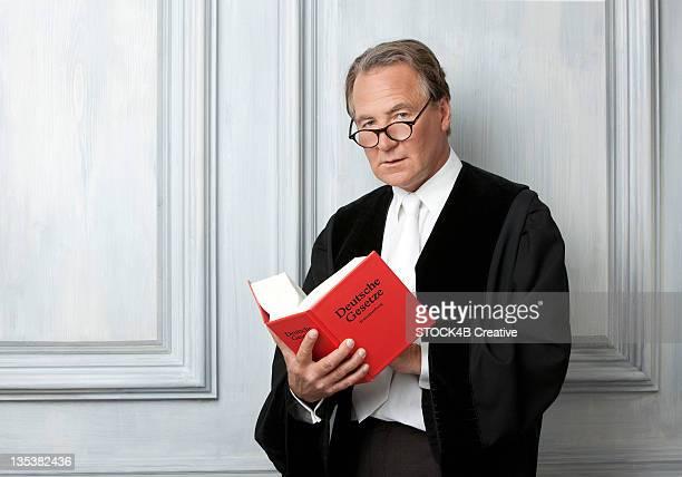 Judge reading code law
