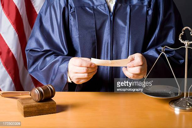judge reading verdict - domination stock pictures, royalty-free photos & images