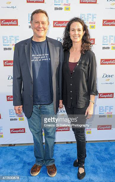 Judge Reinhold and Amy Reinhold attend the 'League of their own' event at Arvest Park hosted by Geena Davis and Rosie O'Donnell at the Bentonville...