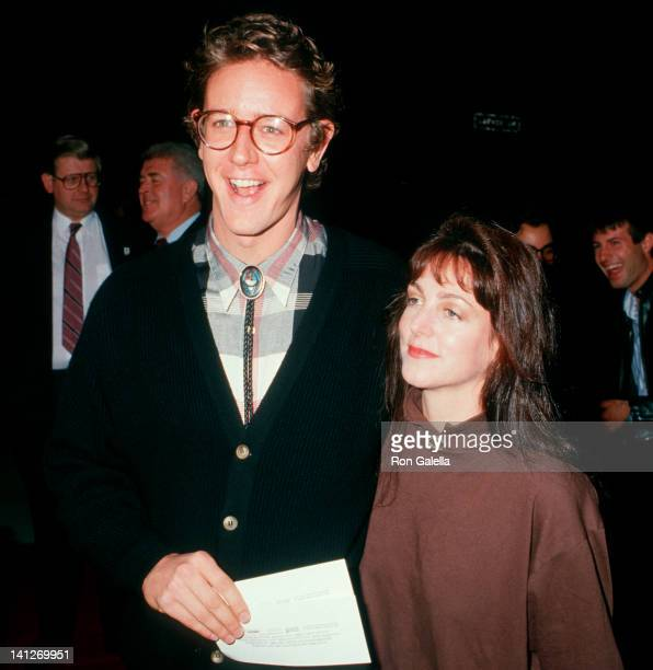 Judge Reinhold and Carrie Frazier at the Premiere of 'Throw Mama From The Train' Academy Theater Beverly Hills