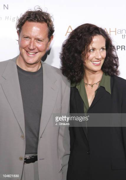 Judge Reinhold and wife Amy during 'Akeelah and the Bee' Los Angeles Premiere Arrivals at The Academy of Motion Picture Arts and Sciences in Beverly...
