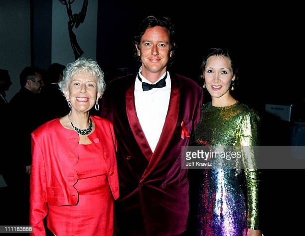 Judge Reinhold with his mother and wife Carrie Frazier right