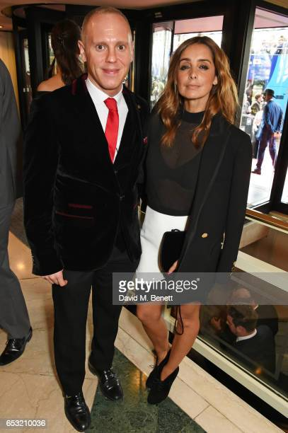 Judge Rinder and Louise Redknapp attend the TRIC Awards 2017 at The Grosvenor House Hotel on March 14 2017 in London England