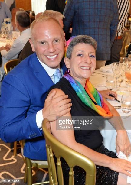 Judge Robert Rinder and Senior Rabbi Laura JannerKlausner attend the Attitude Pride Awards 2018 at The Berkeley Hotel on July 6 2018 in London England