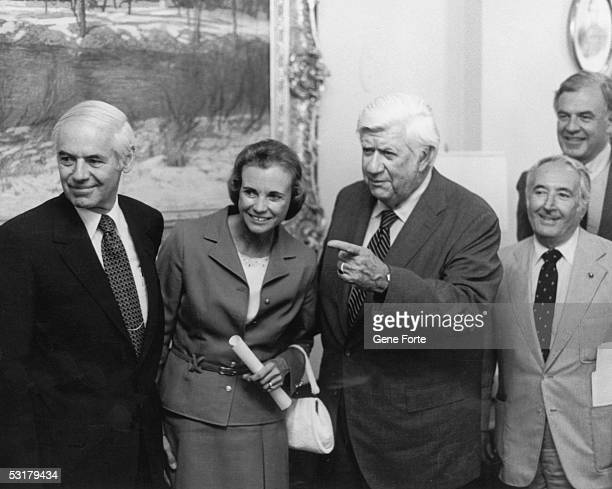 Judge Sandra Day O'Connor is shown round the US Capitol by speaker O'Neill 14th July 1981 She has been chosen by President Ronald Reagan to be the...