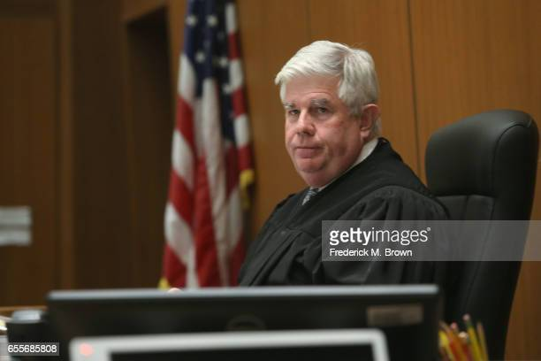 Judge Scott M Gordon presides during a hearing for People v Roman Polanski at Clara Shortridge Foltz Criminal Justice Center on March 20 2017 in Los...