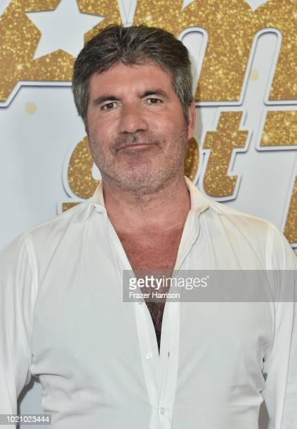 """Judge Simon Cowell arrives for the """"America's Got Talent"""" Season 13 Live Show at Dolby Theatre on August 21, 2018 in Hollywood, California."""