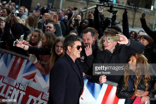 Judge Simon Cowell arrives for the Britain's Got Talent Manchester auditions on February 9 2017 in Manchester United Kingdom