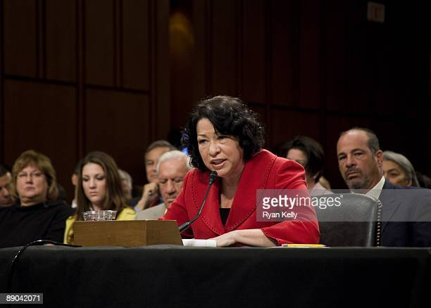 July 14: Judge Sonia Sotomayor testifies during the second day of her confirmation hearings in the Senate Judiciary committee.