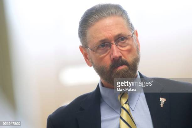 Judge Steven T O'Neill of the Montgomery County Court of Common Pleas walks after it was announced a verdict is in for the Bill Cosby sexual assault...