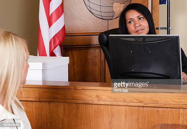 Judge Talking to the Court Clerk