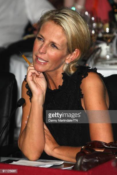 Judge Ulrika Jonsson watches a performance at the Newsroom�s Got Talent event held in aid of Leonard Cheshire Disability and Helen Douglas House at...